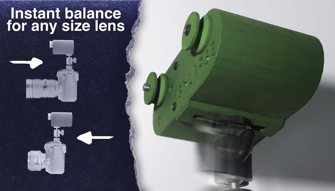 Using the slider on the bottom, GoLapse can be balanced to suit any camera and lens combination.