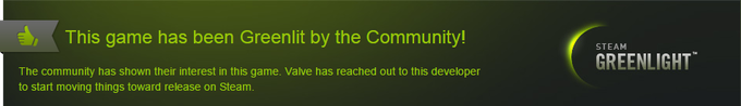 We're Steam Greenlit! Thank you to everyone who voted for the game! ^__^