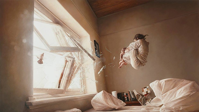 """""""A Perfect Vacuum"""" - Oil painting by Jeremy Geddes"""