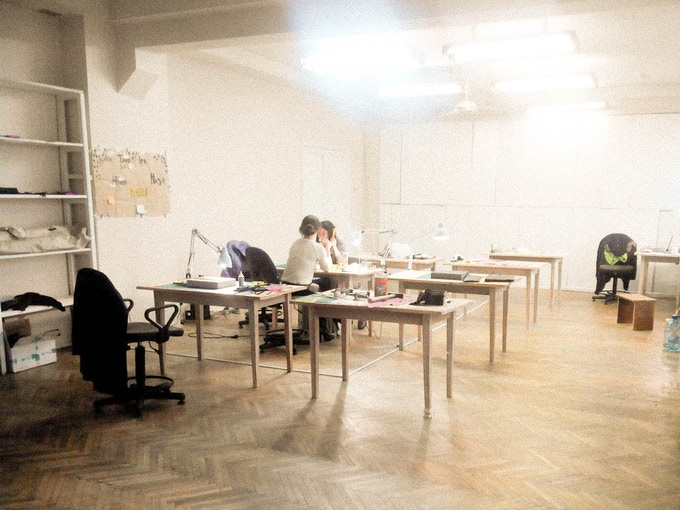 Studio in Lviv, Ukraine. Here our bags will be made