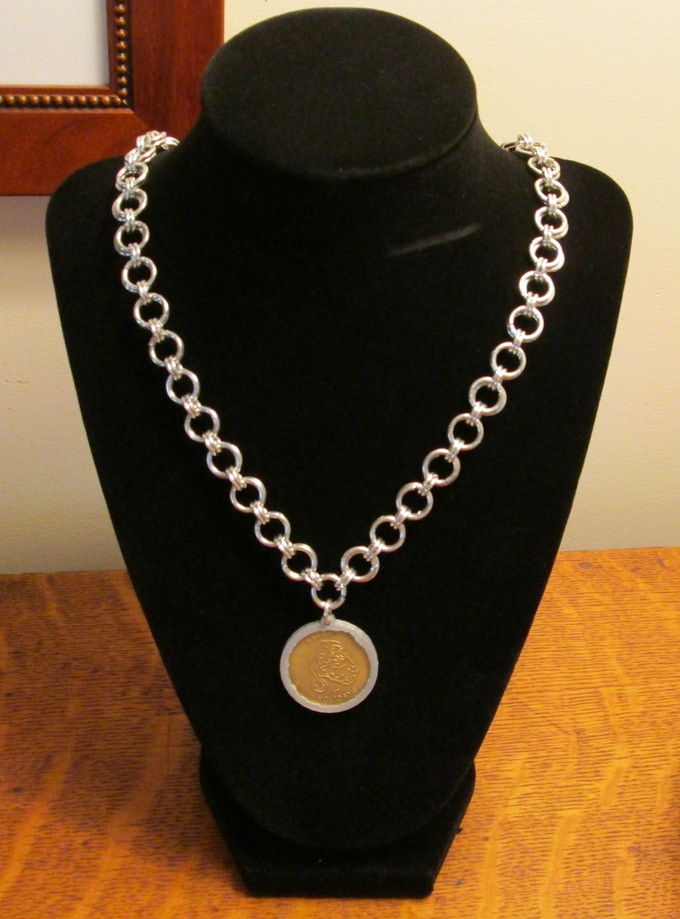 North Pole Santa Coin Necklace