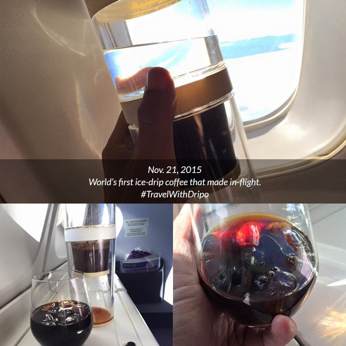 World's first ice-drip coffee made in-flight.