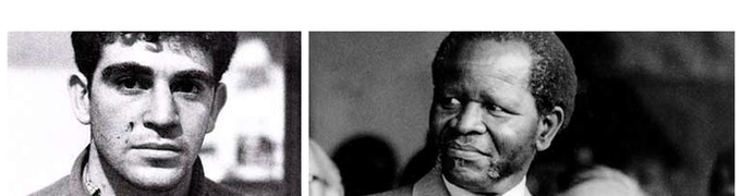 Ronnie Kasrils (left) recruited young Londoners for the missions, himself under instruction from the ANC leader in exile Oliver Tambo (right)
