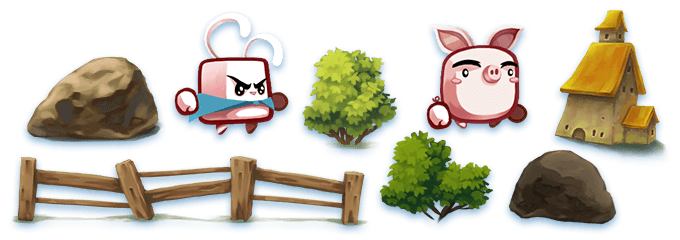 Art for reference only, these assets are from my past game projects