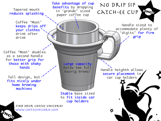 No Drip Sip Catch-e Cup: Features and Benefits