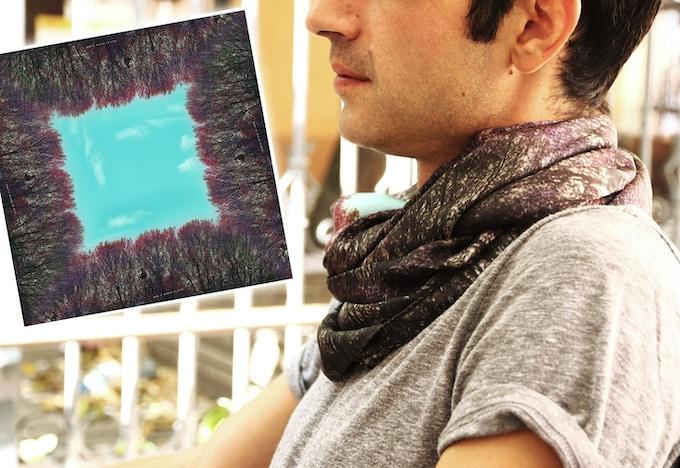Silk scarf 90x90cm in twill