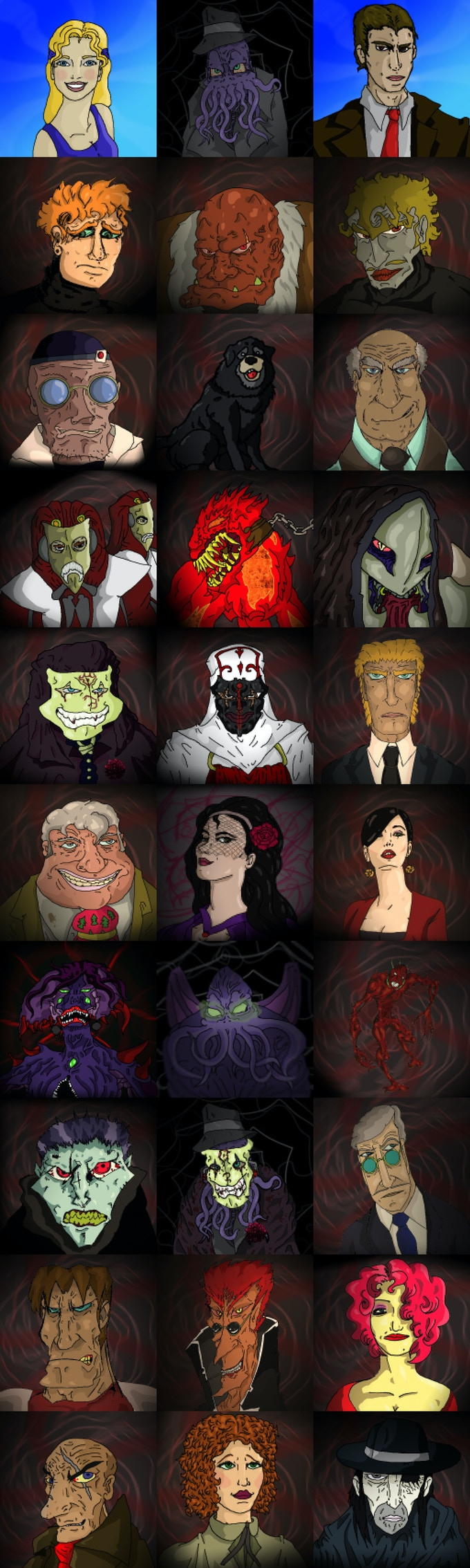 Some portraits from 'A Matter of Caos: Complete Edition'