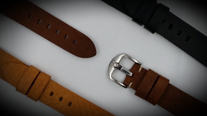 The GTG Watch Vintage genuine Italian leather straps