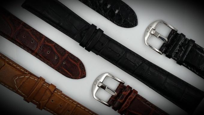 The GTG Watch Crocodile genuine Italian leather straps
