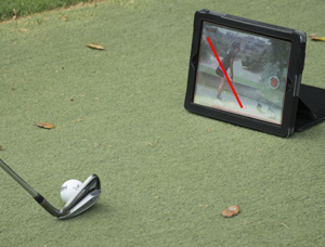 App view of LiveViewGolf Video feed
