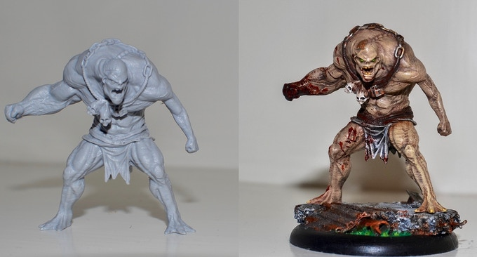 Unpainted vs. Painted Model