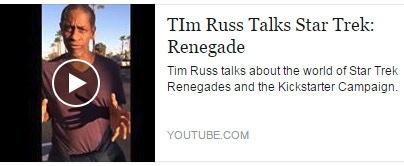 Tim Russ Talks Renegades