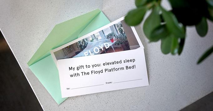 The Floyd Platform Bed gift card
