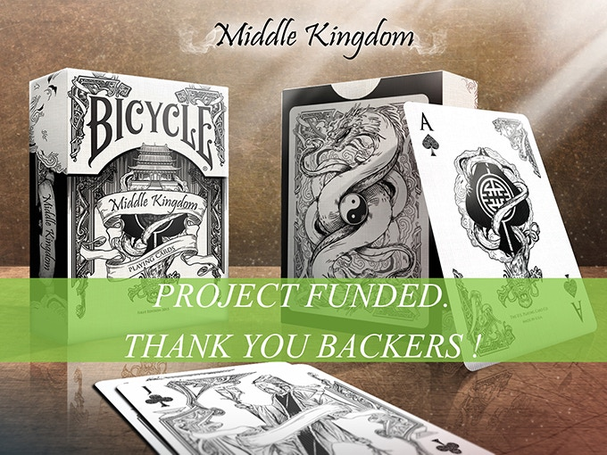 Beautiful Bicycle® China-inspired playing cards featuring all-custom line art, printed by USPC. Bicycle® brand printing is approved!