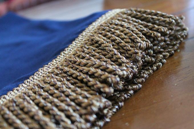 Gold trim detail