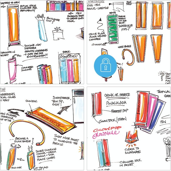 Some of our inventor's ideation sketches.  There are lots more!