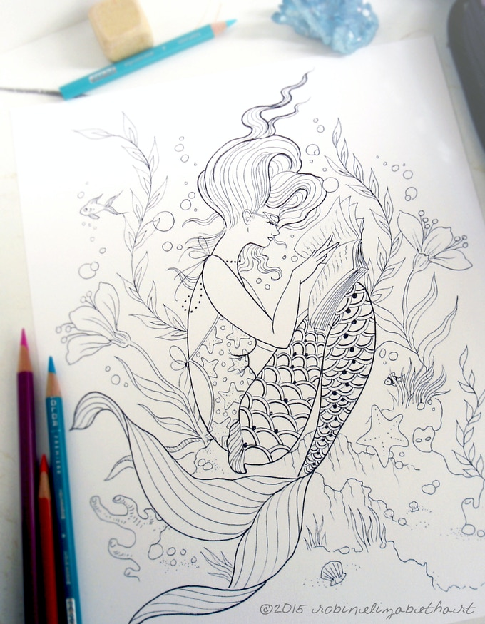 this reading mermaid is one of the most popular images in the book