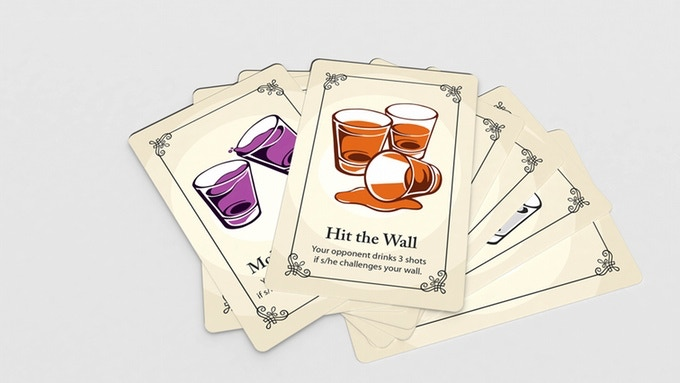 We don't want to spoil the surprise by showing all of the Bottoms Up cards to you, but we can present some of them here. Cheers!