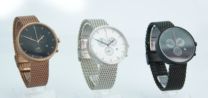 002 range with the stainless steel mesh strap option