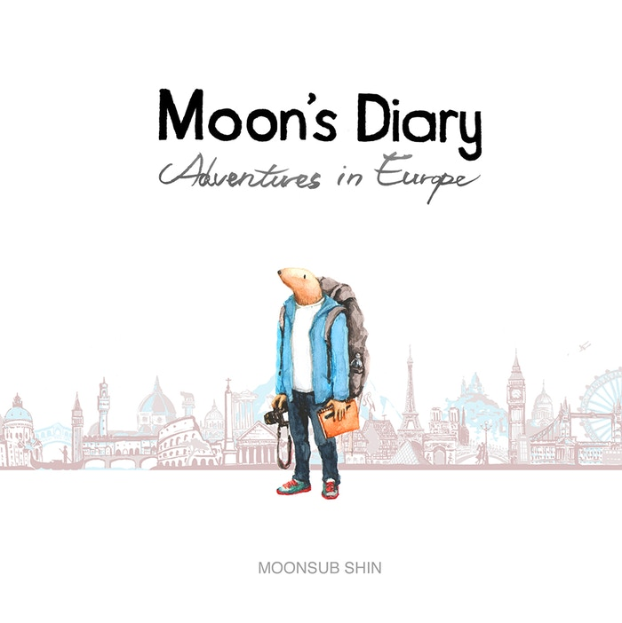 An Illustration Book of Moon's travels in Europe. Sketches and drawings about serendipitous moments in his journey.