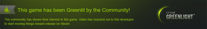 Thanks for helping us get Greenlit!