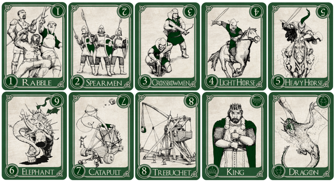 "Jade army | 300 gsm card stock | 2.25"" x 3.15"""