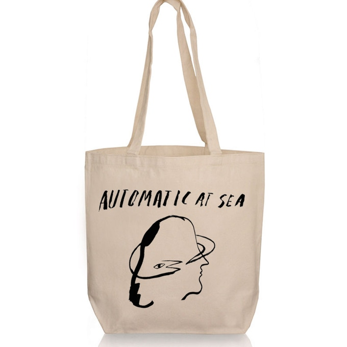 AUTOMATIC AT SEA tote bag designed by Alina Vergnano
