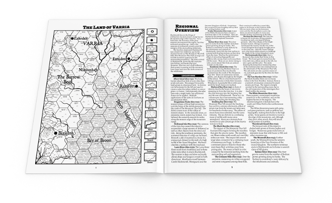 Module includes an optional 1-page map and setting, perfect to print for your players