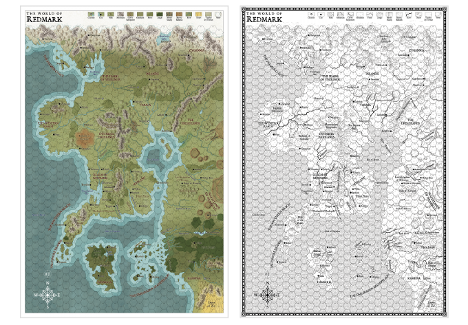 """24"""" x 36"""" Maps in Color and Black-and-White Versions"""