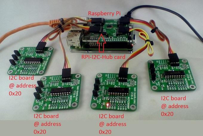 I2C Multiplexer for the Raspberry Pi (RPI-I2C-HUB) by Doug
