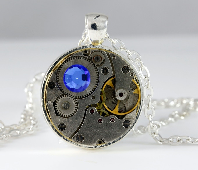 1 inch Pendant Necklace with Swarovski elements
