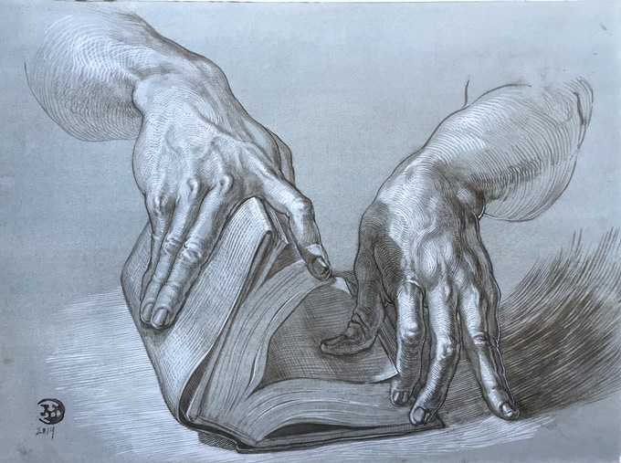 """Book and Hands"" (2014) *click for hi-res*"