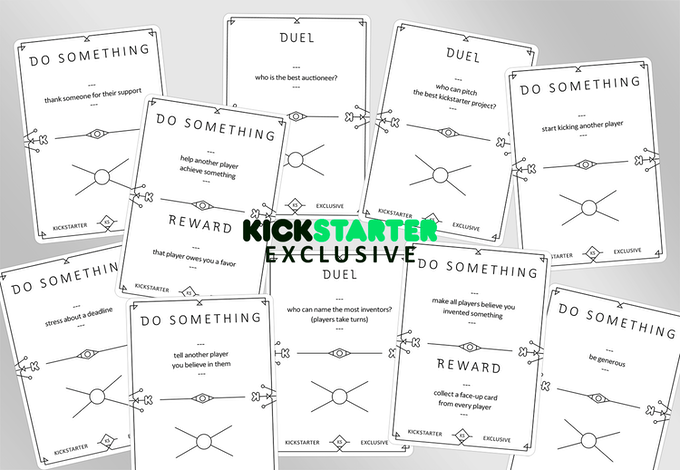 ...and a Kickstarter exclusive booster pack!