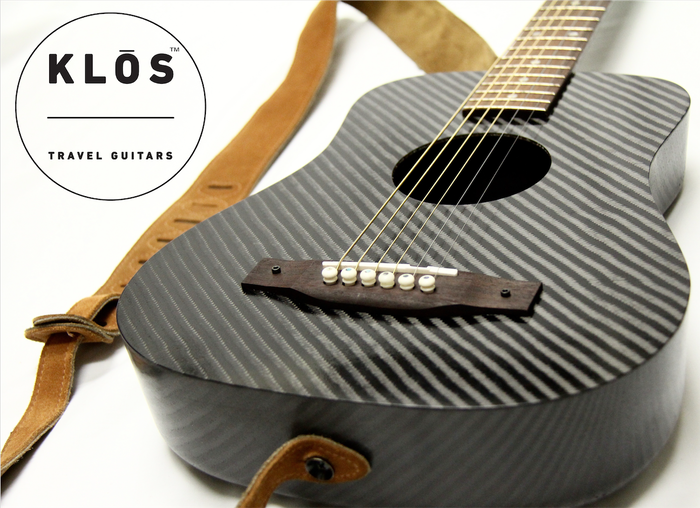 KLOS Guitars designs and manufactures the first durable, affordable, and comfortable carbon fiber travel guitar