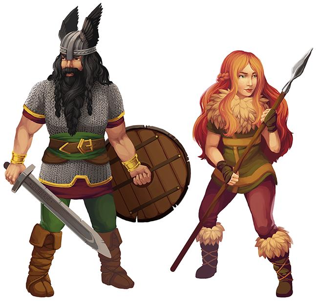Ulfgar and Brynnhilde by Anna Maria Klimkovic
