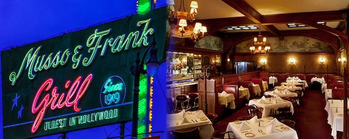 Hollywood Landmark, Musso & Frank Restaurant