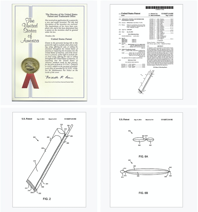 You're backing something really unique! Our Utility Patent has been awarded. Curious researchers who want to read all 21 pages can click on any of the Patent images above.