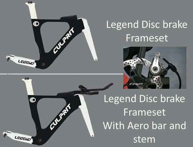 Frameset includes Frame, fork, post, (7 color options to choose from) bento box,  TRP spyre flat mound disc brake calipers