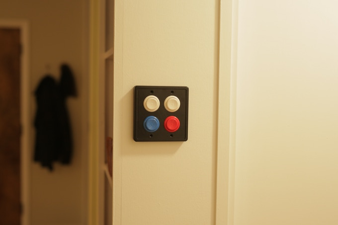 4 Buttoned Double Switch