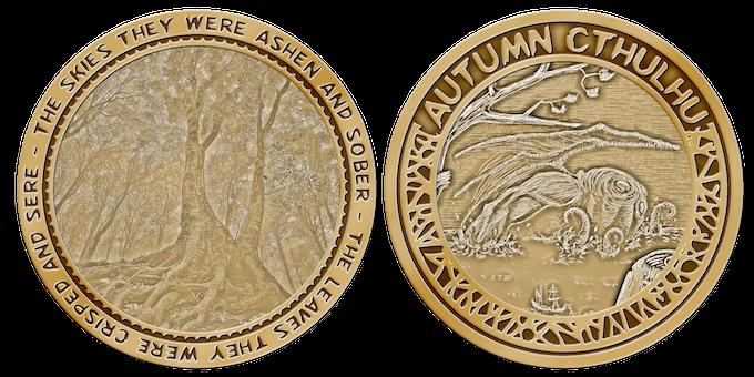 """The """"Autumn Cthulhu"""" coin!"""