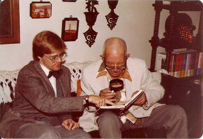 Author Randy Skretvedt conducts early research with L&H film editor Richard Currier