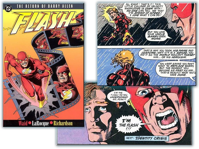 A sample of Greg's awesome work on THE FLASH from DC Comics