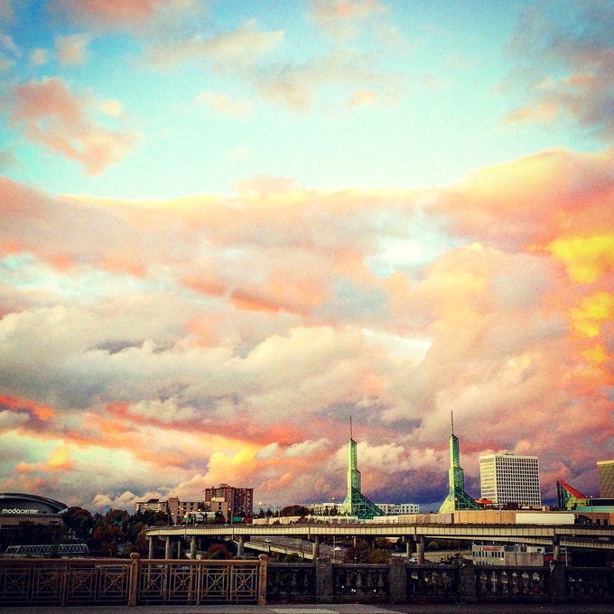 Portland through my eyes... A photo from Black Holes and Unicorns the book! One of the amazing rewards