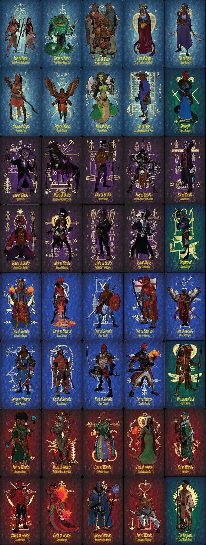 Latin Tarot Card Readings: Vudu (Vodou, Voodoo) Tarot And Espiritismo Tarot Art Cards