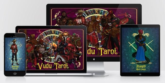 Vudu (Vodou, Voodoo) Tarot and Espiritismo Tarot Art Cards