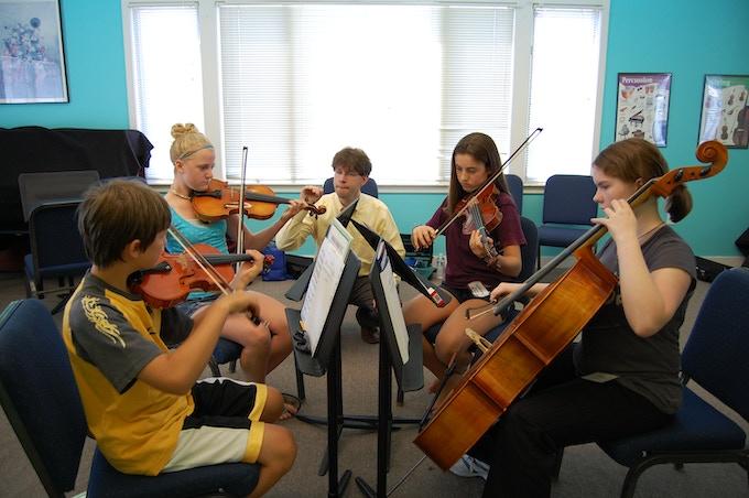 Quartet Project workshop at Indian Hill Music.