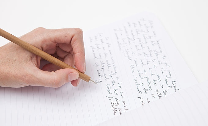 XL Leftybook - B5 Size - Slightly Slant-Ruled Paper View