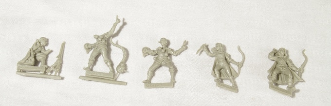 This is what are minis look like straight out of the box, without any cleaning done.