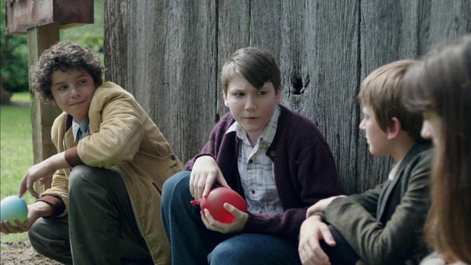 """NOAH LOMAX (left) as """"Peter"""" and GABRIEL LANDIS as """"Jimmy"""""""