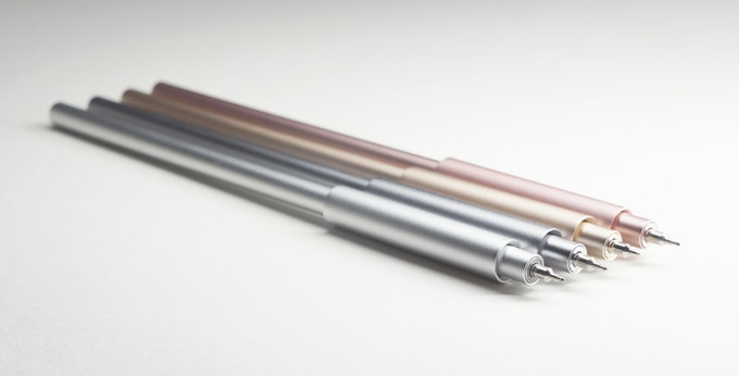 pen colors: silver, dark grey, gold, rose gold